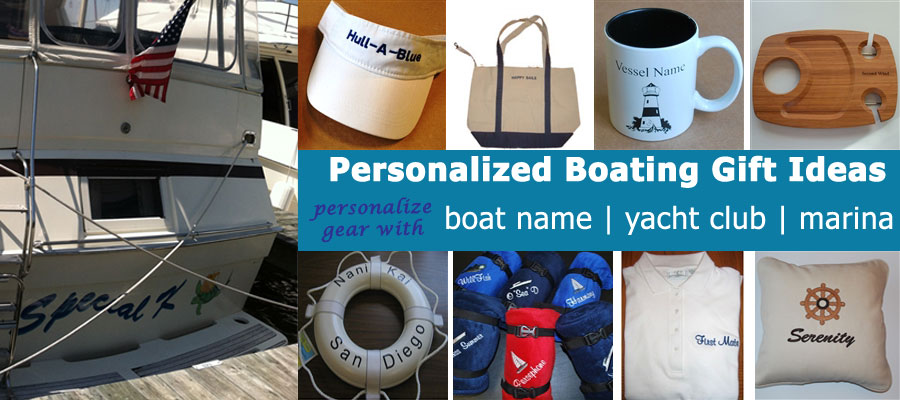 personalized boat gifts