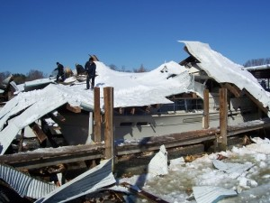 boat shed collapse