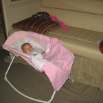 Bed Options for a Newborn Infant or Baby Sleeping on Board a Boat