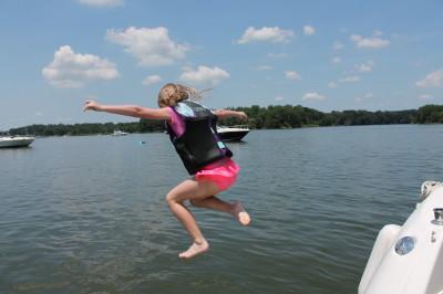 boat swim platform jump