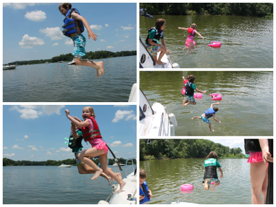 boat jump collage