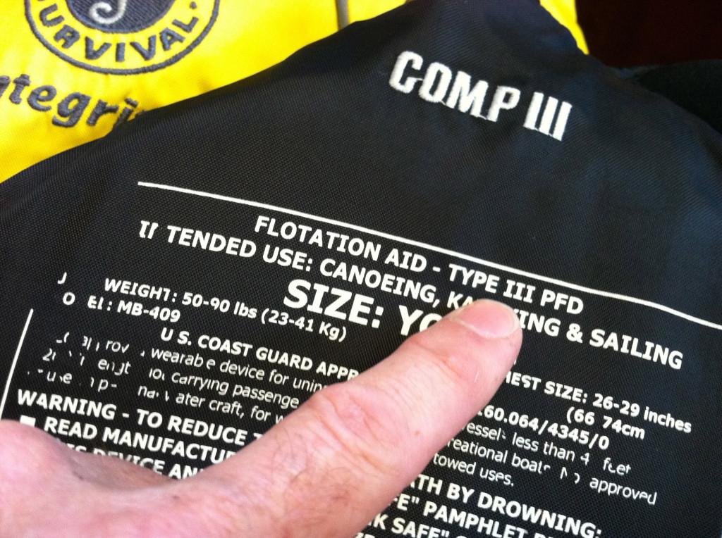 life jacket codes