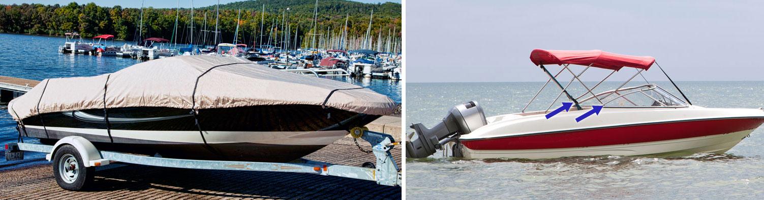 boat covers biminis