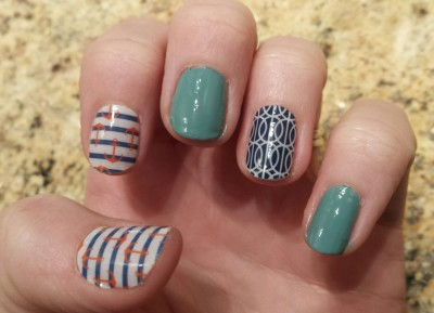Nail Wrap Designs With Gel Polish Combining Jamberry Wraps Sally Hansen