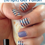 Nautical Nail Designs Using Jamberry Wraps and Sally Hansen Gel Polish