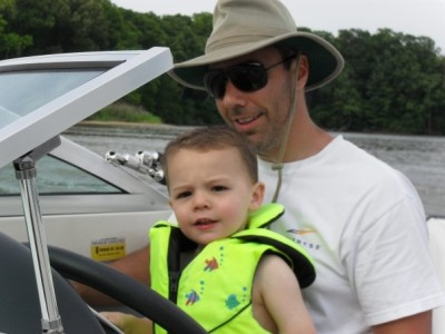 boating with dad
