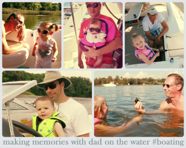 making memories with dad on the water
