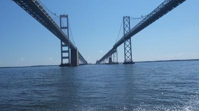 bay bridge water view