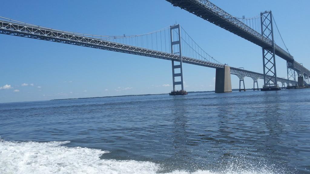 Chesapeake Bay Bridge water view