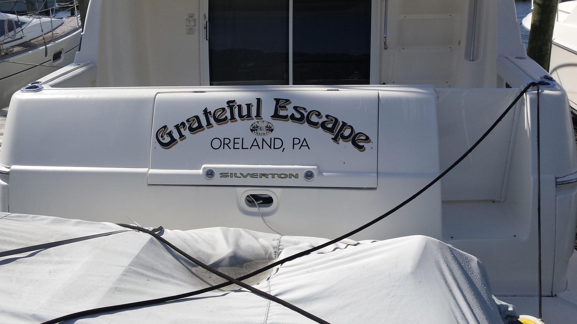 boat name grateful escape