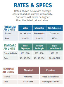 marine ad rates and specs