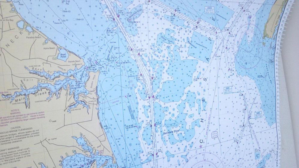 nautical charts sailing trip