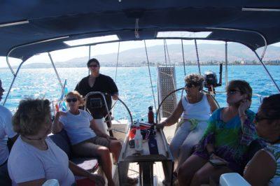 cruising on Bay Poet charter
