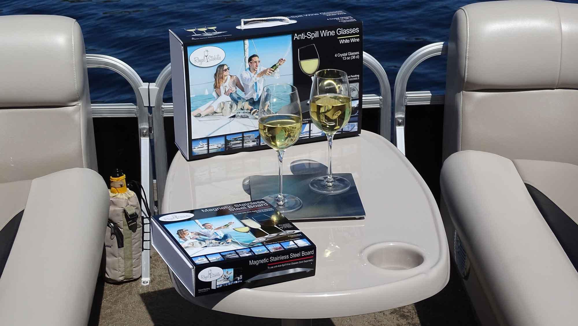 royal stabilis wine glass system