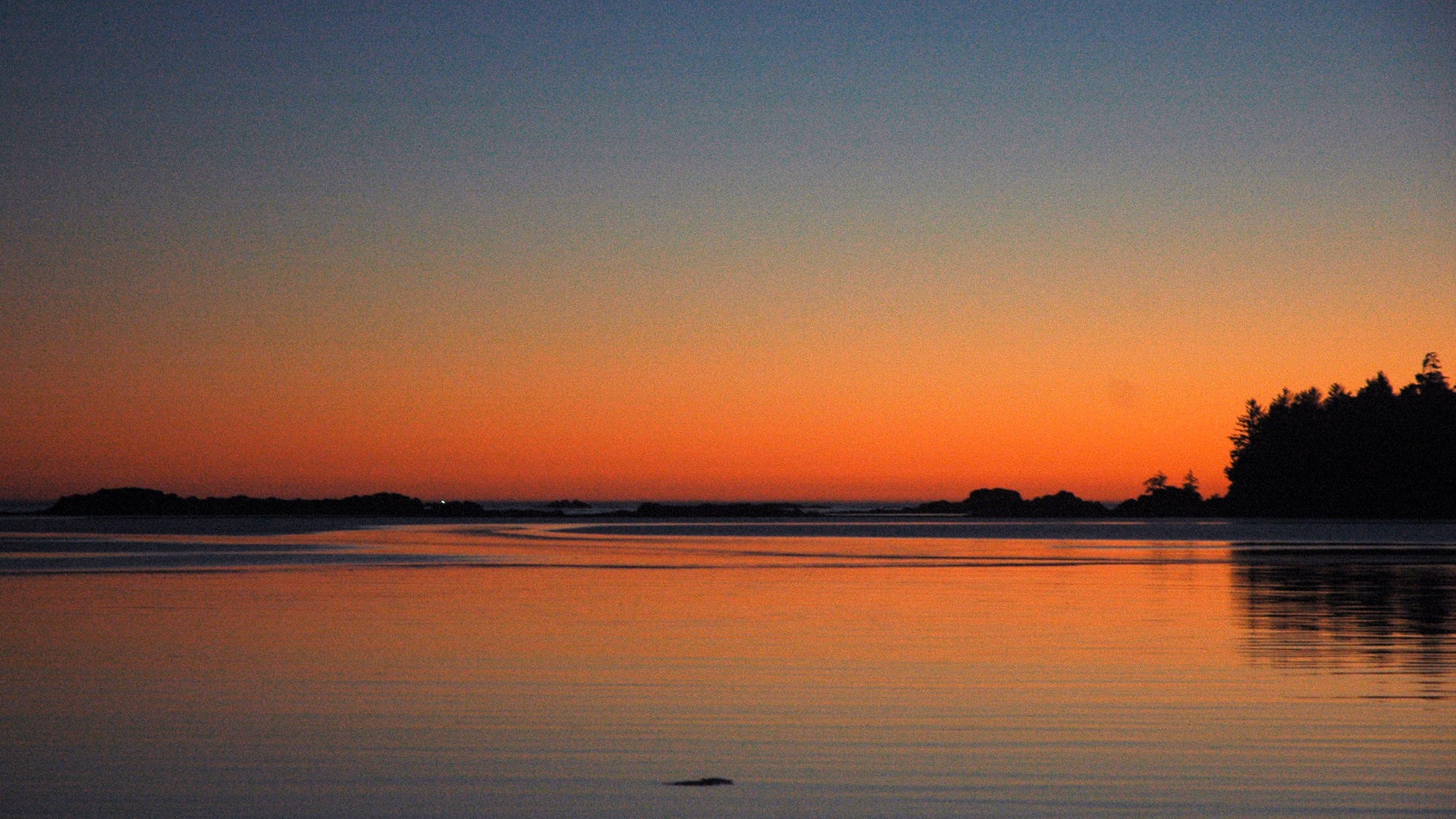 sunset Nuchatlitz Bay
