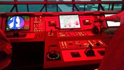 Ship simulator panel