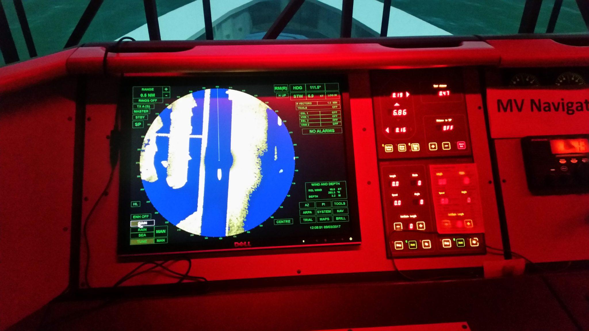 ship simulator radar