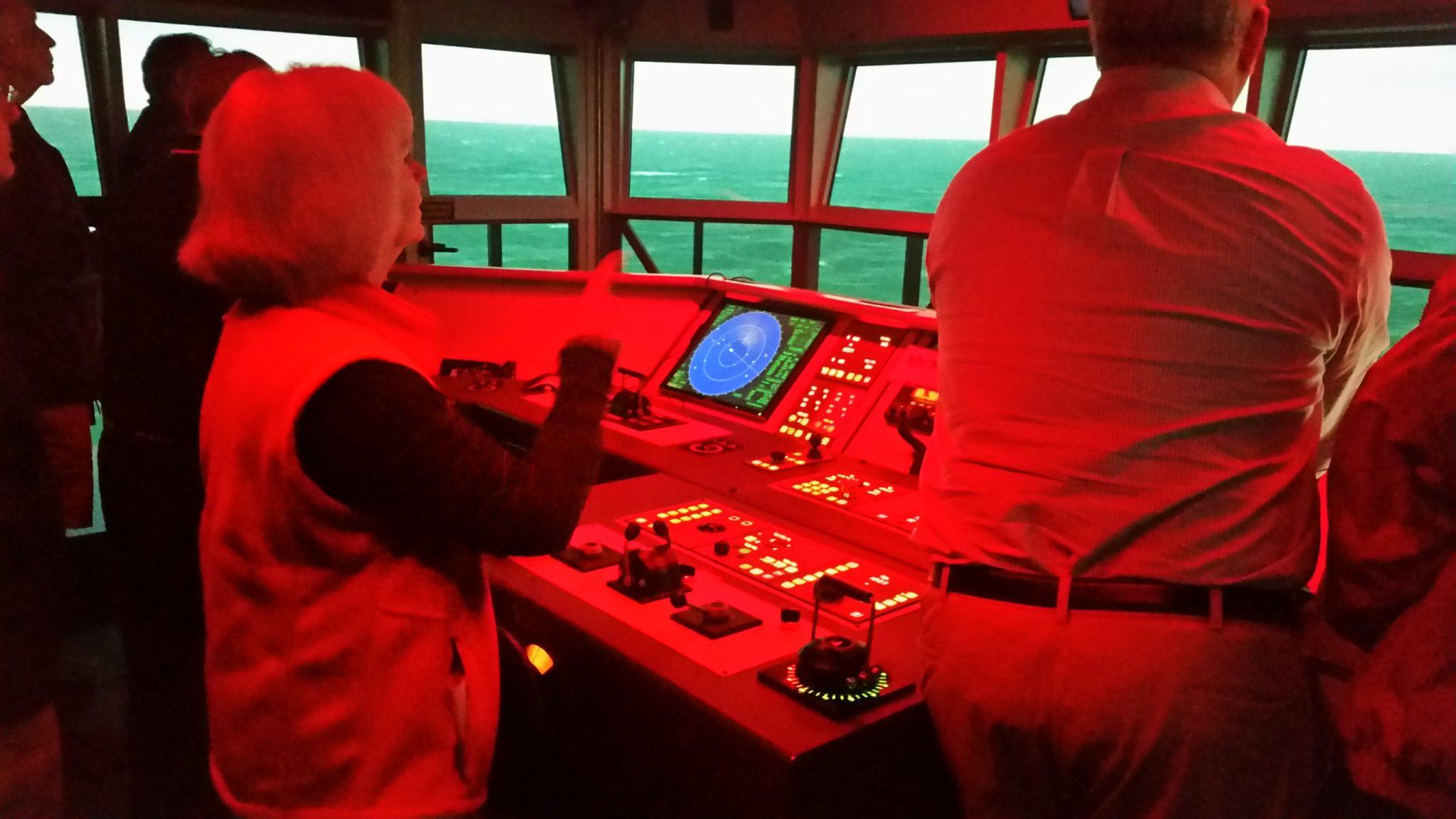 simulator at bridge helm