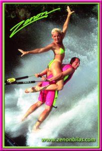Zenon water ski trick