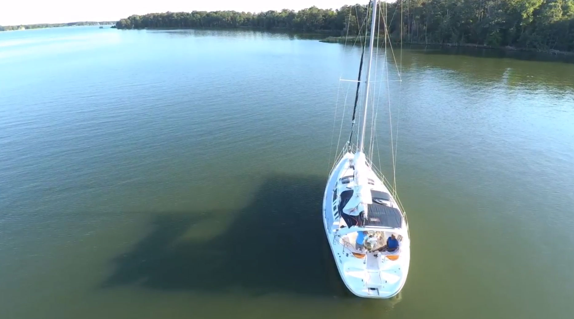 boat aerial photo drone