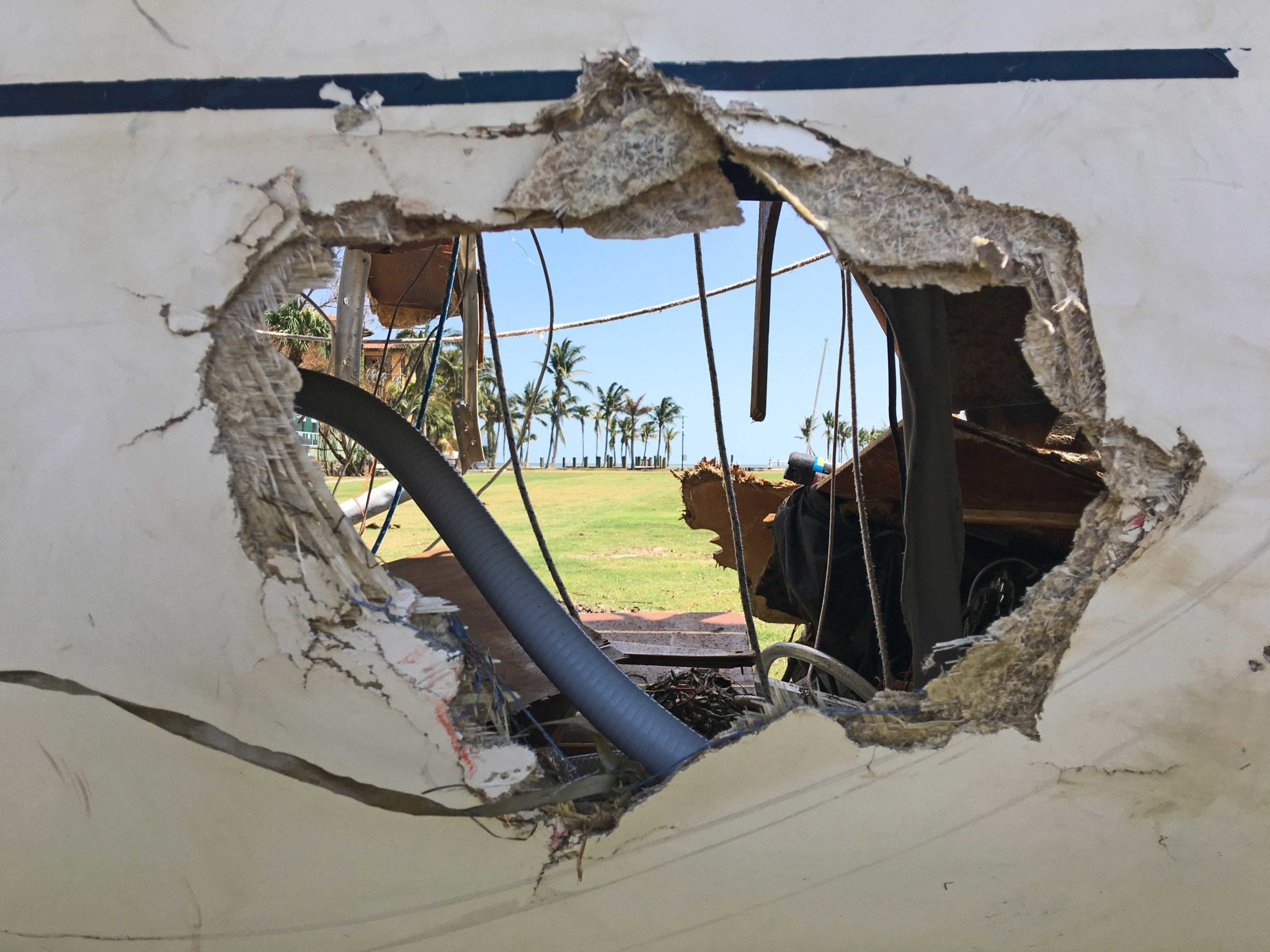 hurricane boat damage