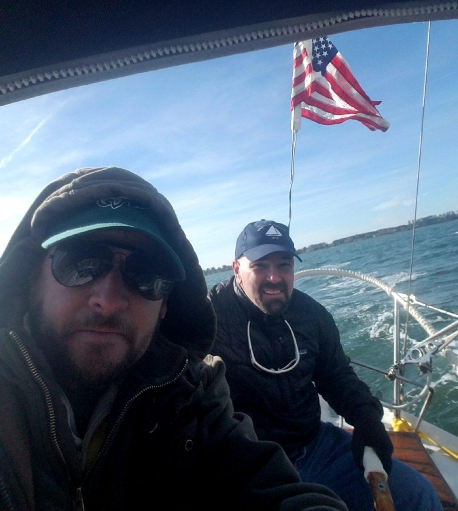Winter sail solo
