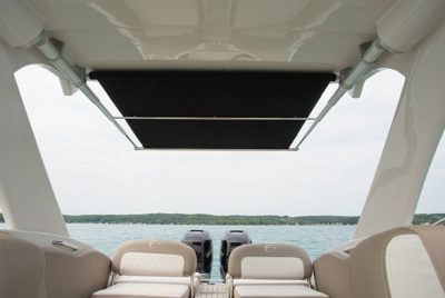 sureshade rtx pull out boat shade