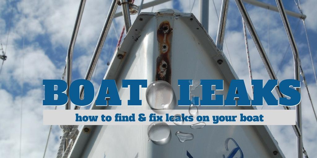 boat leaks