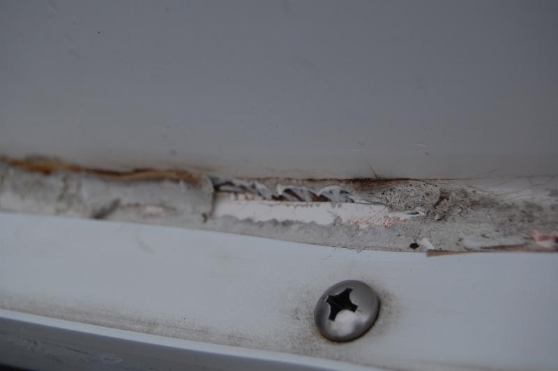 butyl tape remnants