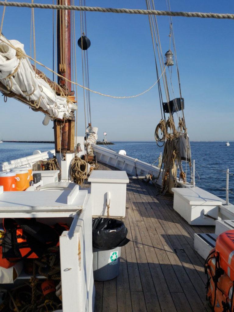 schooner at anchor