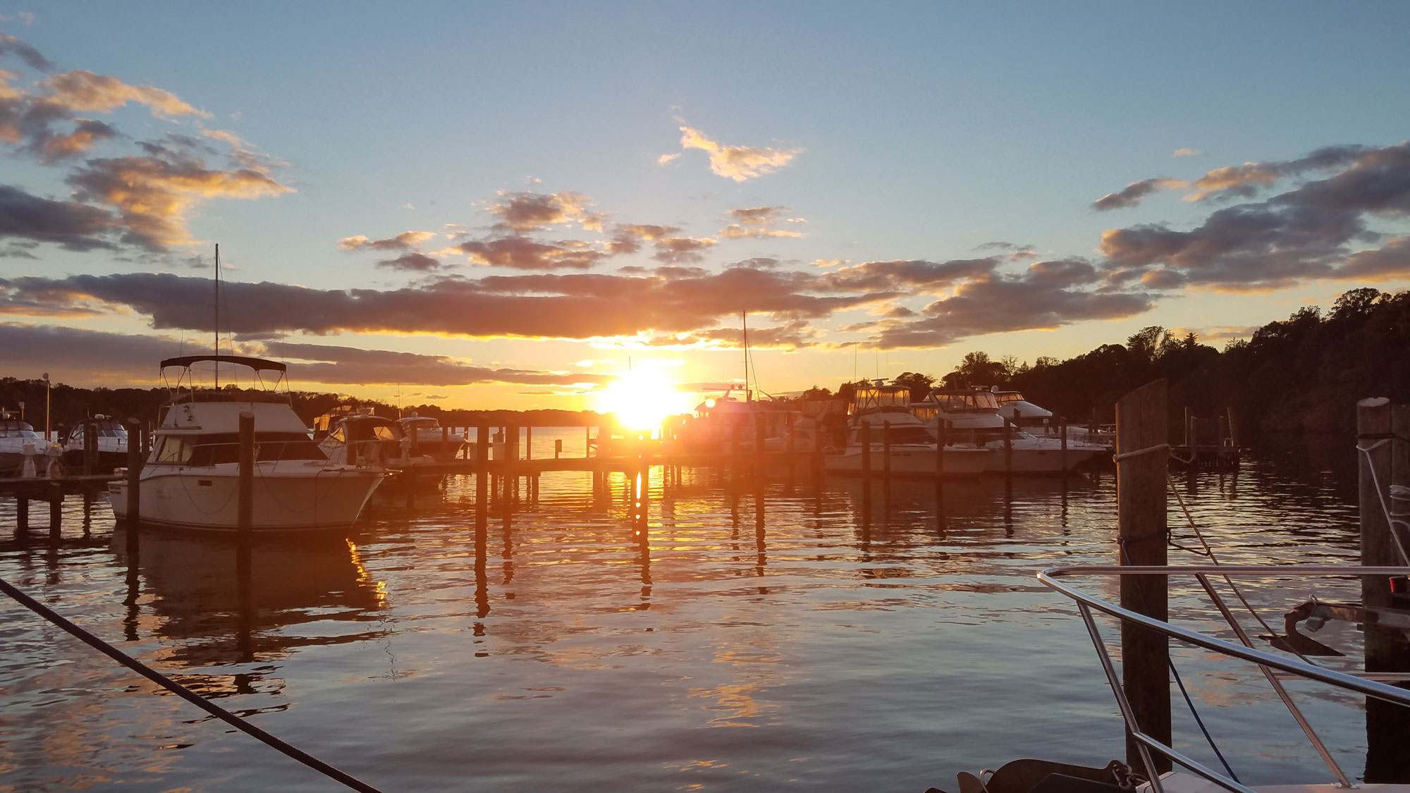 boat sunset view