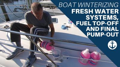 winterize fresh water boat