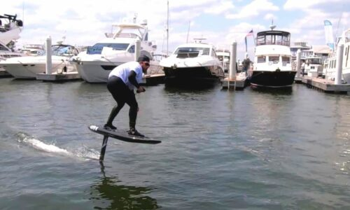 Foiling Surfboard Demo and How to Learn eFoil Surfing