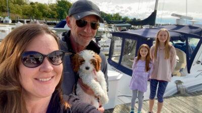 boat dog family