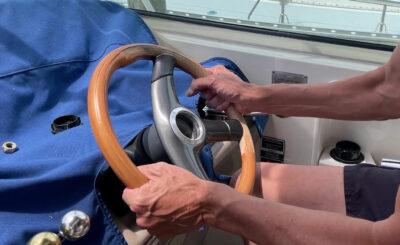 old stuck steering wheel